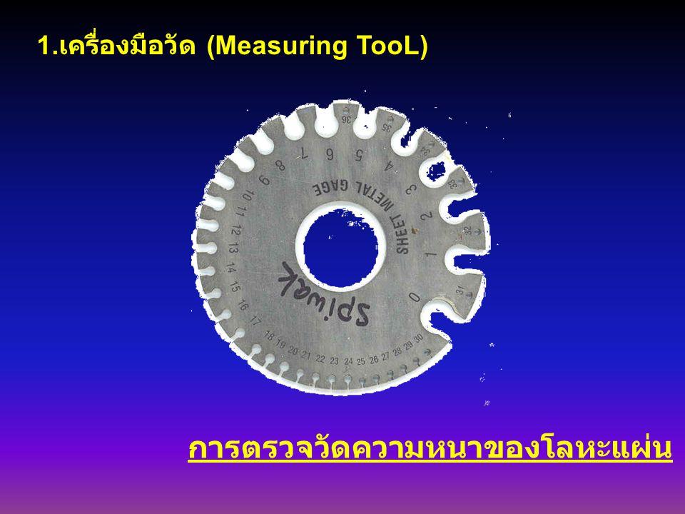 การตรวจวัดความหนาของโลหะแผ่น 1. เครื่องมือวัด (Measuring TooL)