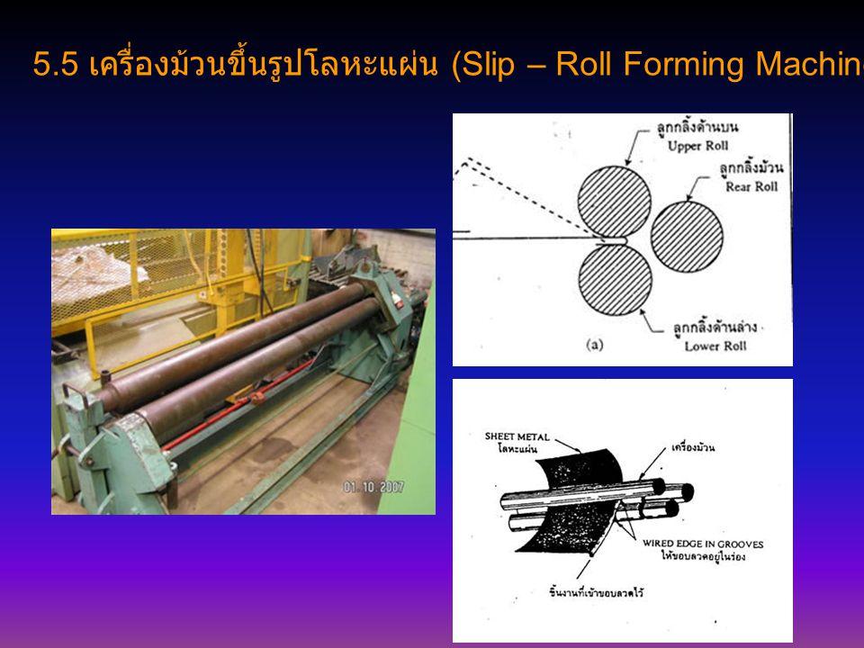 5.5 เครื่องม้วนขึ้นรูปโลหะแผ่น (Slip – Roll Forming Machine)