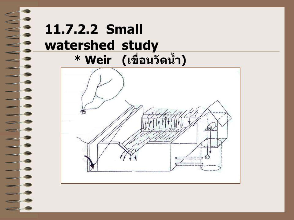 11.7.2.2 Small watershed study * Weir ( เขื่อนวัดน้ำ )