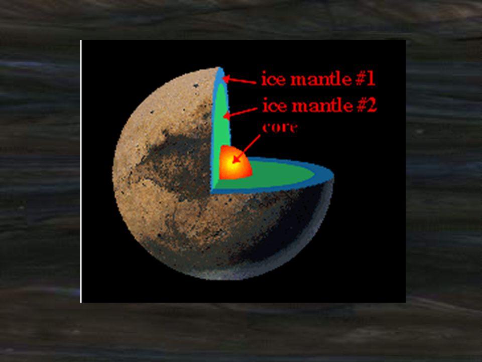 จุดสว่างบนพื้นผิวของดาวพลูโตอาจเป็น บริเวณที่ปกคลุมด้วยไนโตรเจนแข็ง บางส่วนของมีเทนแข็งและ คาร์บอนมอนอกไซด์แข็ง ส่วนบริเวณ พื้นที่ที่มืดบนพื้นผิวของดาวพลูโตยังไม่ ทราบองค์ประกอบ แต่อาจเป็น สารประกอบอินทรีย์ดั้งเดิมหรือปฏิกิริยา เคมีทางแสงที่ทำให้เกิดรังสีคอสมิค