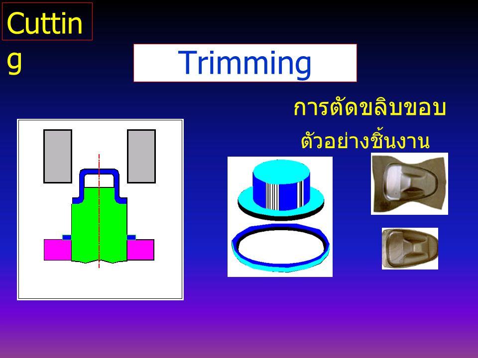 Trimming การตัดขลิบขอบ ตัวอย่างชิ้นงาน Cuttin g
