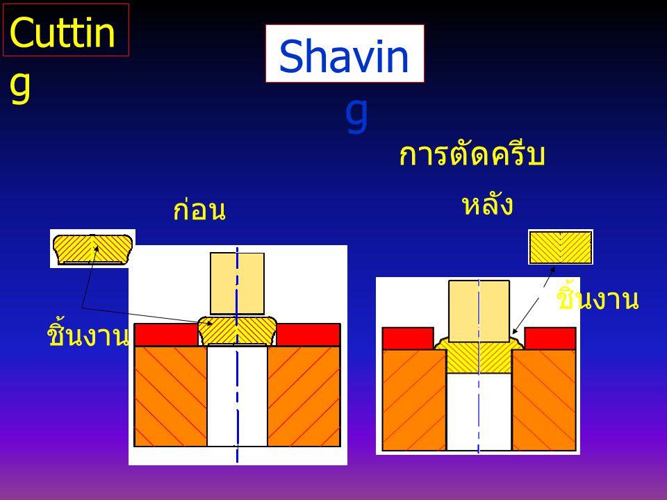 Shavin g การตัดครีบ ก่อน หลัง ชิ้นงาน Cuttin g