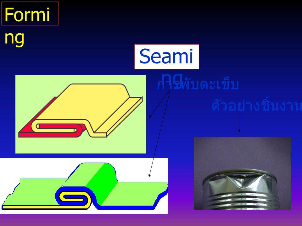 Seami ng การพับตะเข็บ ตัวอย่างชิ้นงาน Formi ng