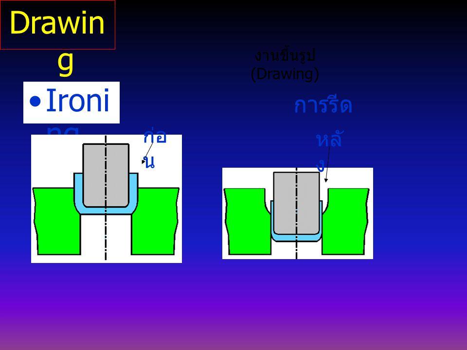 Ironi ng งานขึ้นรูป (Drawing) การรีด ก่อ น หลั ง Drawin g