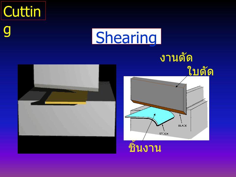 Shearing งานตัด ใบตัด ชิ้นงาน Cuttin g
