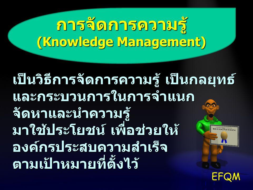 การจัดการความรู้ (Knowledge Management) เป็นวิธีการจัดการความรู้ เป็นกลยุทธ์ และกระบวนการในการจำแนก จัดหาและนำความรู้ มาใช้ประโยชน์ เพื่อช่วยให้ องค์ก