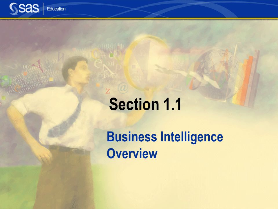 Section 1.1 Business Intelligence Overview