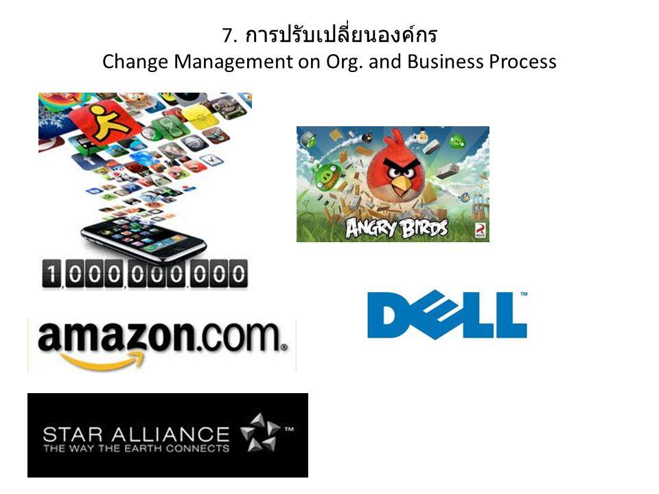 7. การปรับเปลี่ยนองค์กร Change Management on Org. and Business Process