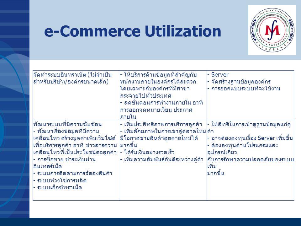 จัดทำระบบอินทราเน็ต (ไม่จำเป็น สำหรับบริษัท/องค์กรขนาดเล็ก) - ให้บริการด้านข้อมูลที่สำคัญกับ พนักงานภายในองค์กรได้สะดวก โดยเฉพาะกับองค์กรที่มีสาขา กระ