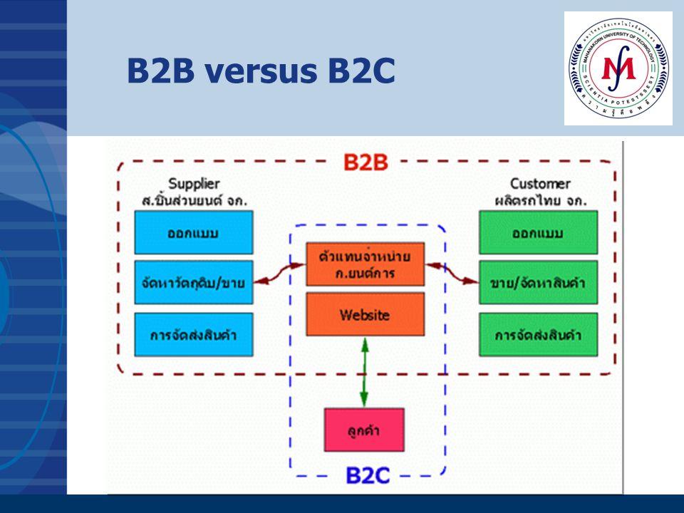 B2B versus B2C