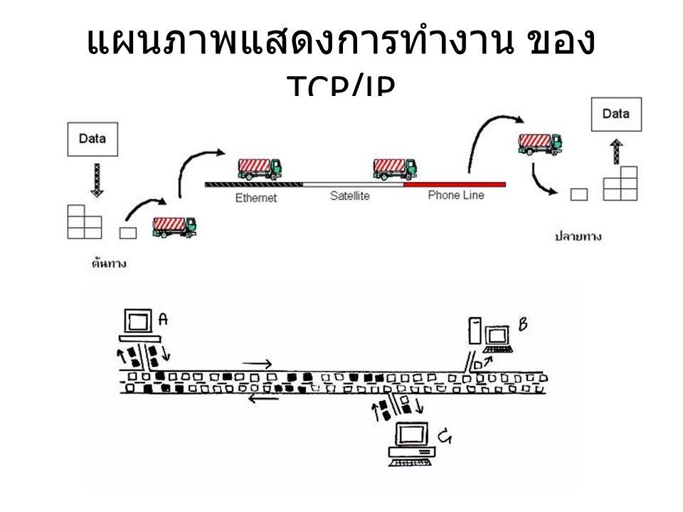 แผนภาพแสดงการทำงาน ของ TCP/IP