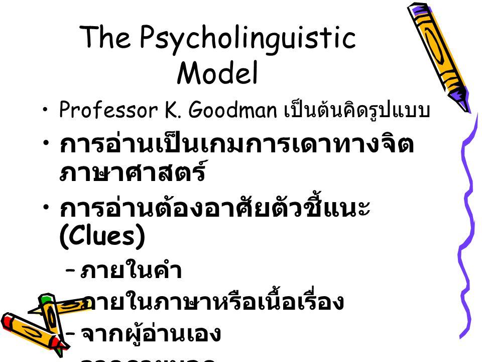 The Psycholinguistic Model Professor K.