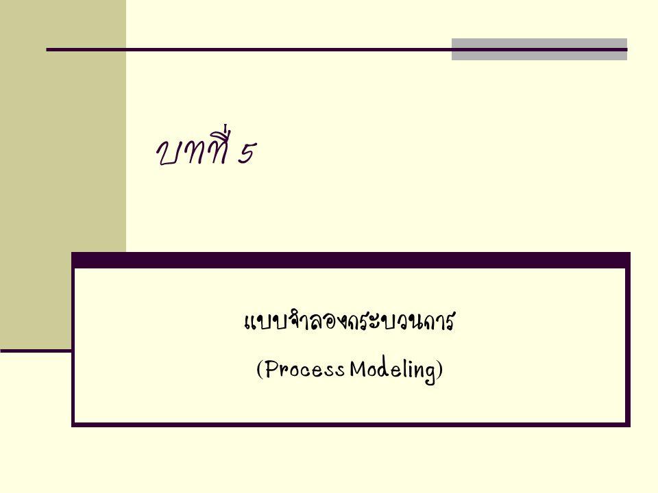 บทที่ 5 แบบจำลองกระบวนการ (Process Modeling)