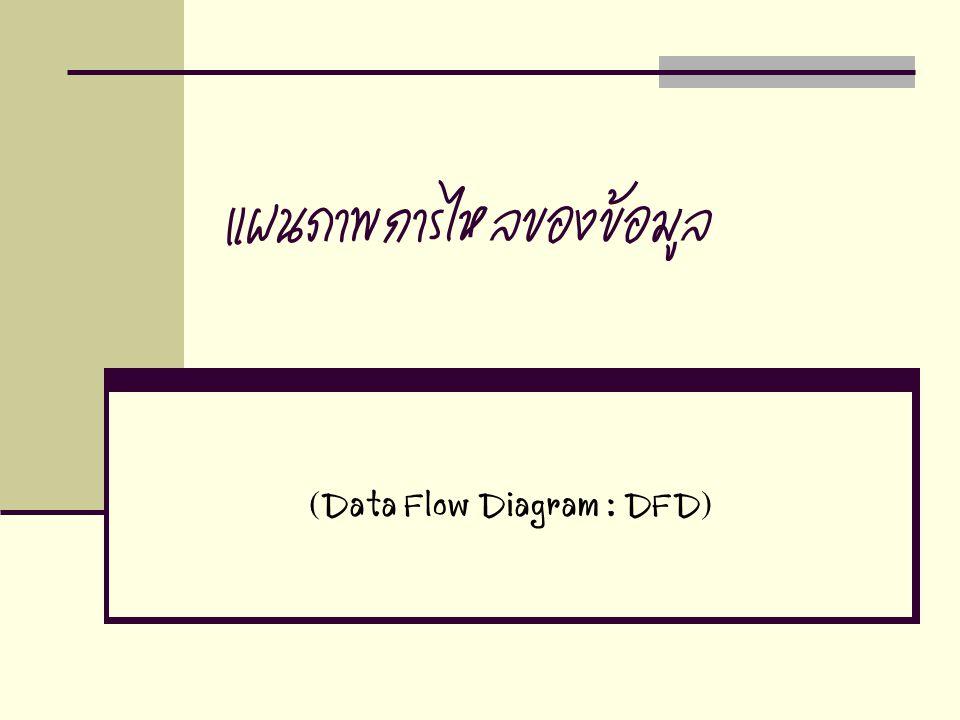 แผนภาพการไหลของข้อมูล (Data Flow Diagram : DFD)