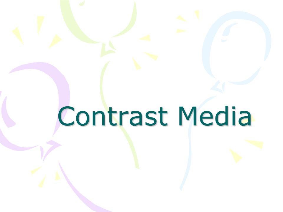 สารทึบรังสี (Contrast Media) หมายถึง สารที่ใช้ในการตรวจทางรังสีวิทยา เพื่อให้เกิดความแตกต่างในการดูดกลืนรังสี ระหว่างอวัยวะที่ต้องการตรวจกับอวัยวะหรือ โครงสร้างอื่นที่อยู่ใกล้เคียง เป็นผลให้เห็น อวัยวะที่ต้องการตรวจได้ชัดเจนขึ้น ซึ่งสามารถ นำเข้าสู่ร่างกายได้หลายทาง เช่น การ รับประทาน, การสวนเข้าทางทวารหนัก และฉีด เข้าหลอดเลือด หรือเข้าช่องโพรงของร่างกาย