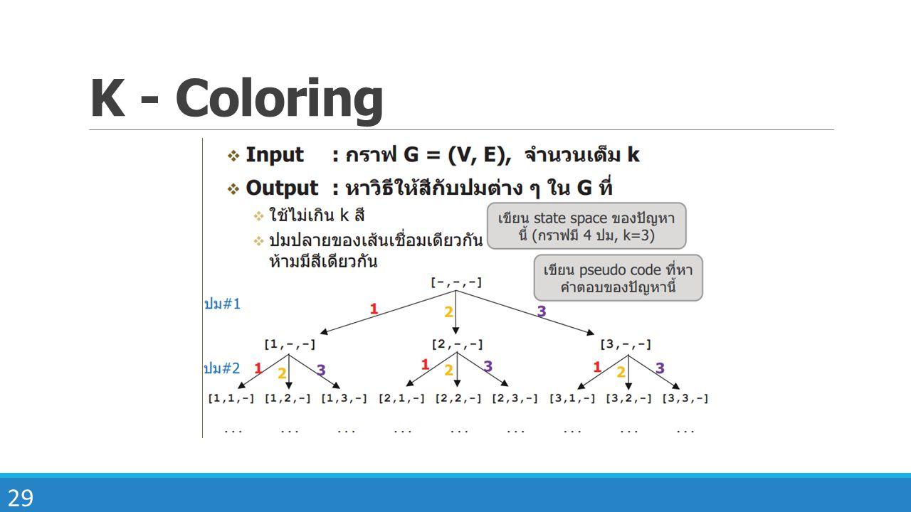 29 K - Coloring