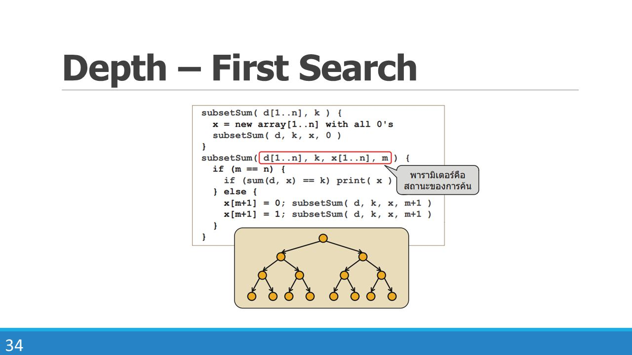 34 Depth – First Search