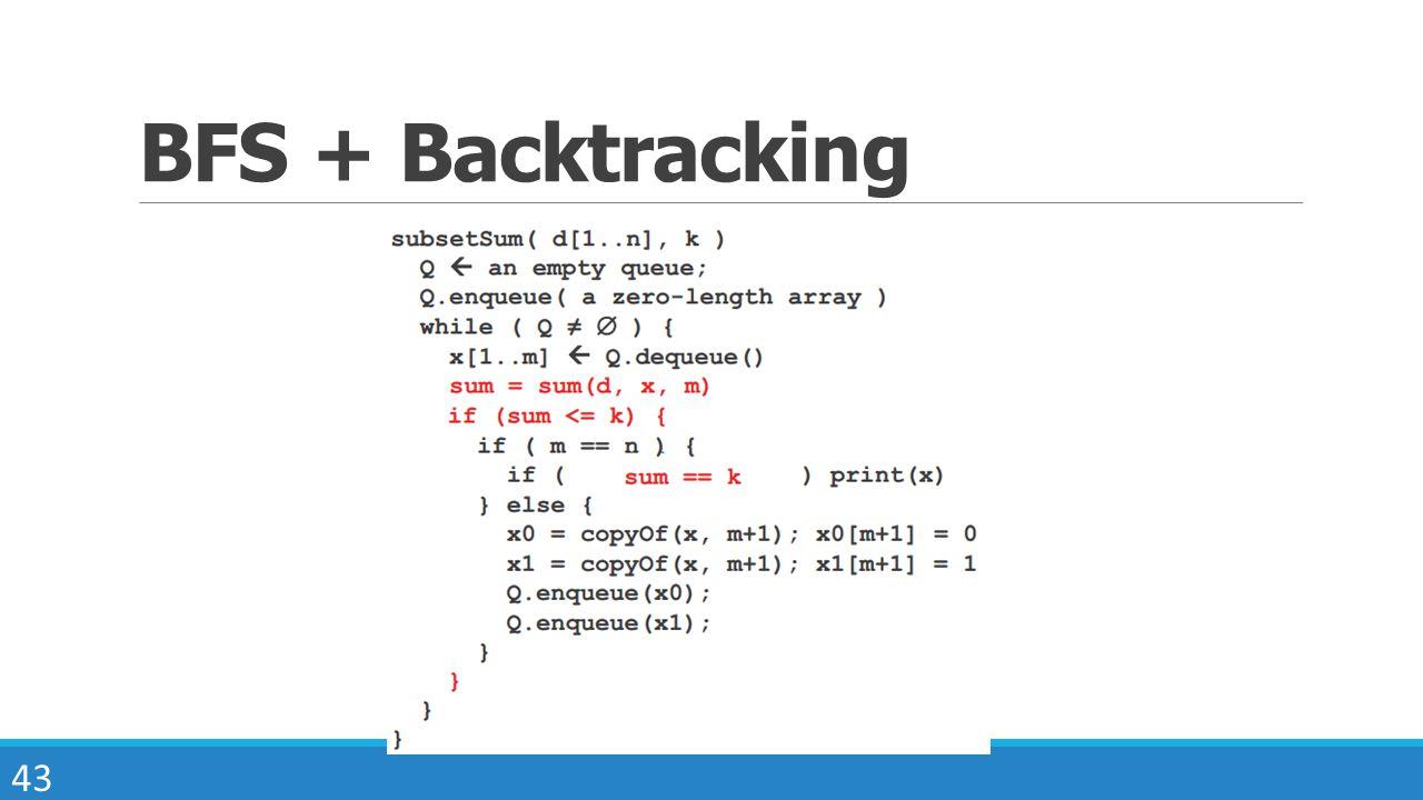 43 BFS + Backtracking