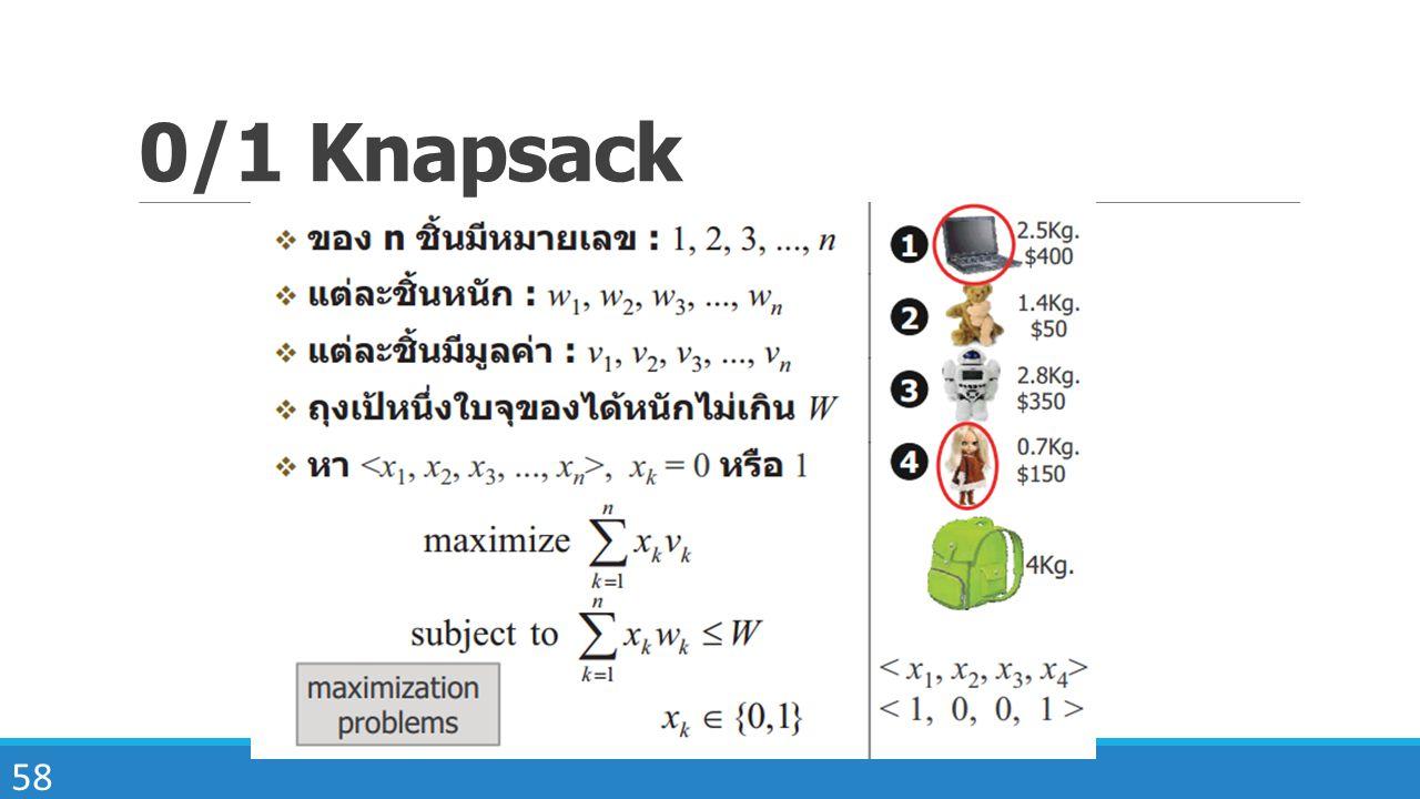 58 0/1 Knapsack