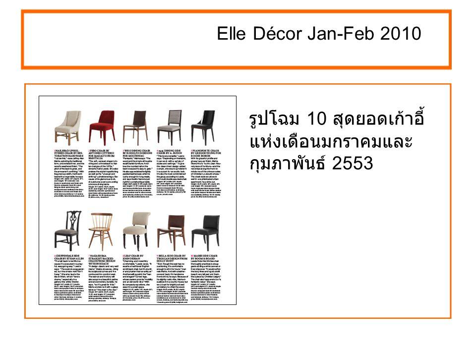 Elle Décor Jan-Feb 2010 สร้างจุดดึงดูดสายตา ในห้องสีทึม