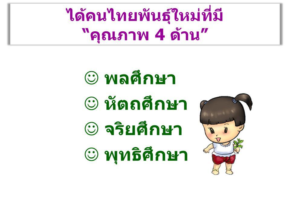 """ได้คนไทยพันธุ์ใหม่ที่มี """"คุณภาพ 4 ด้าน"""" พลศึกษา หัตถศึกษา จริยศึกษา พุทธิศึกษา"""