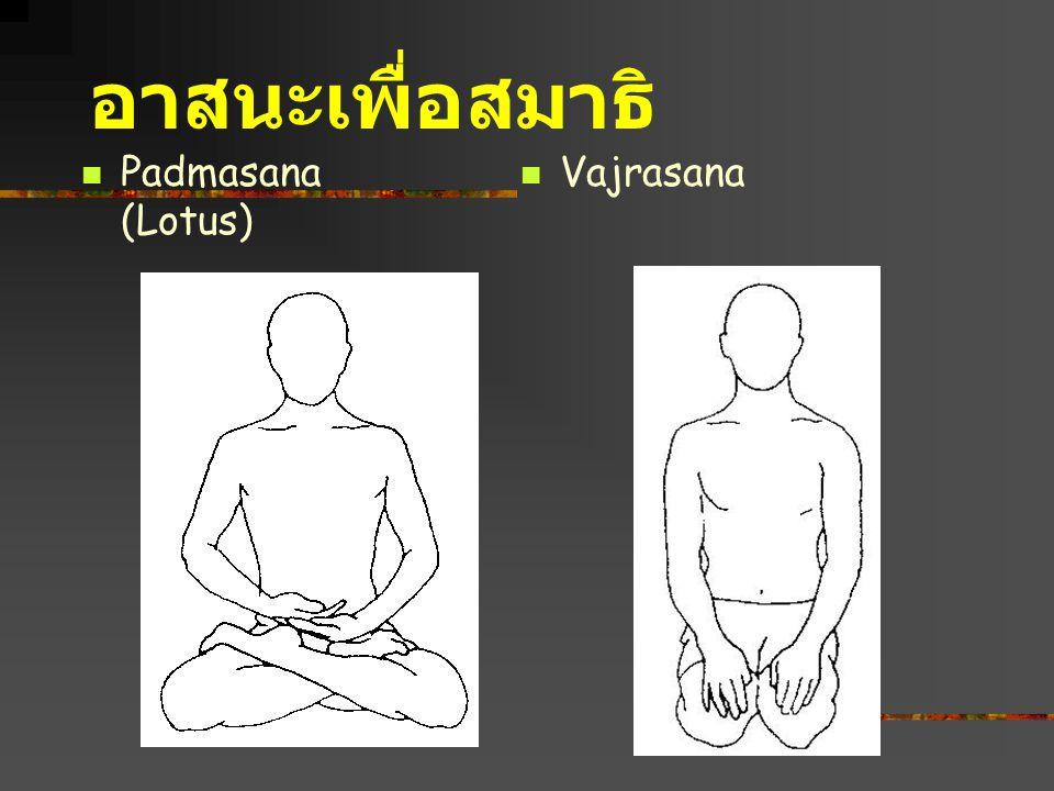 อาสนะเพื่อสมาธิ Padmasana (Lotus) Vajrasana