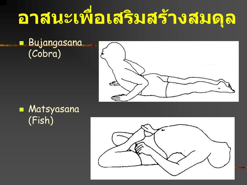 Bujangasana (Cobra) Matsyasana (Fish) อาสนะเพื่อเสริมสร้างสมดุล