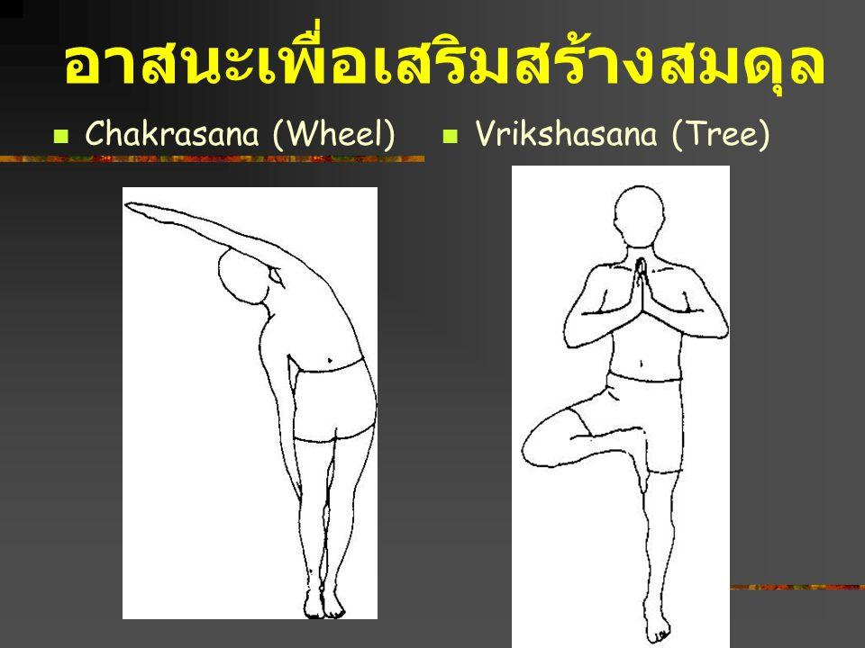 Vrikshasana (Tree) Chakrasana (Wheel) อาสนะเพื่อเสริมสร้างสมดุล