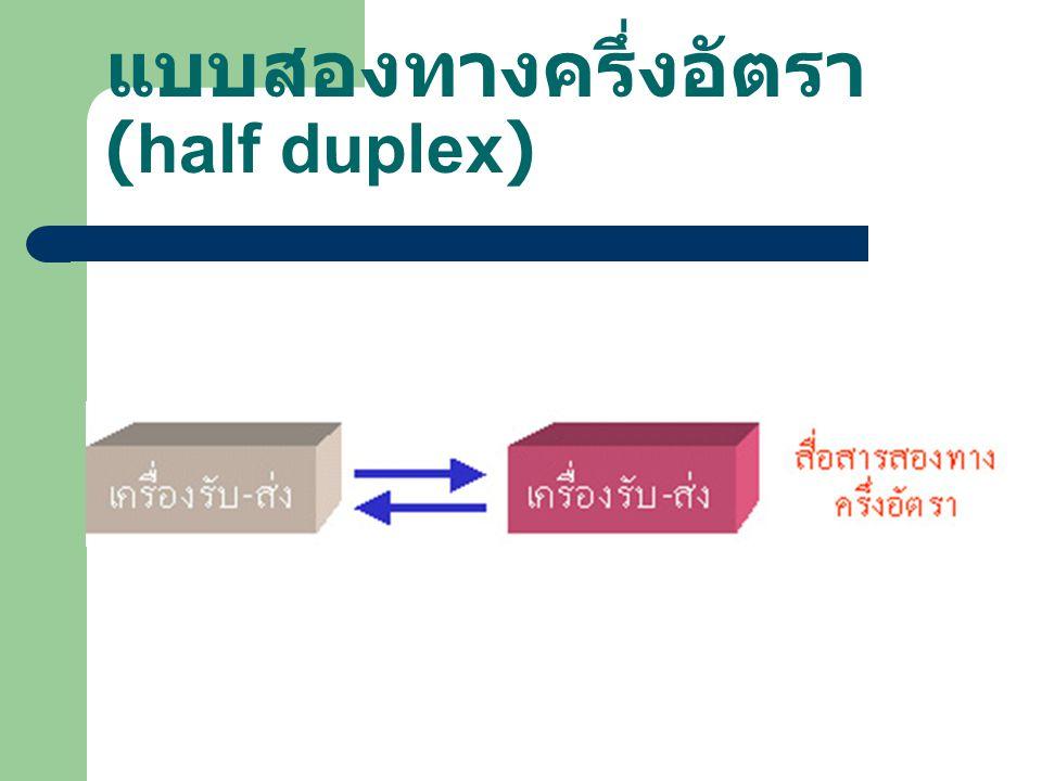 แบบสองทางครึ่งอัตรา (half duplex)