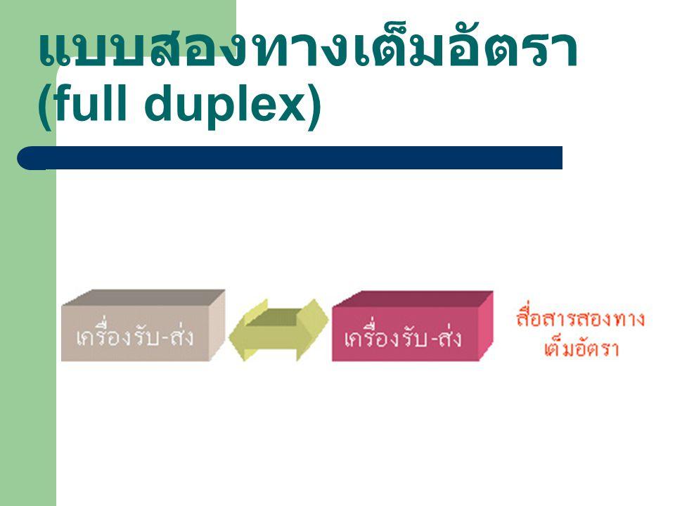 แบบสองทางเต็มอัตรา (full duplex)