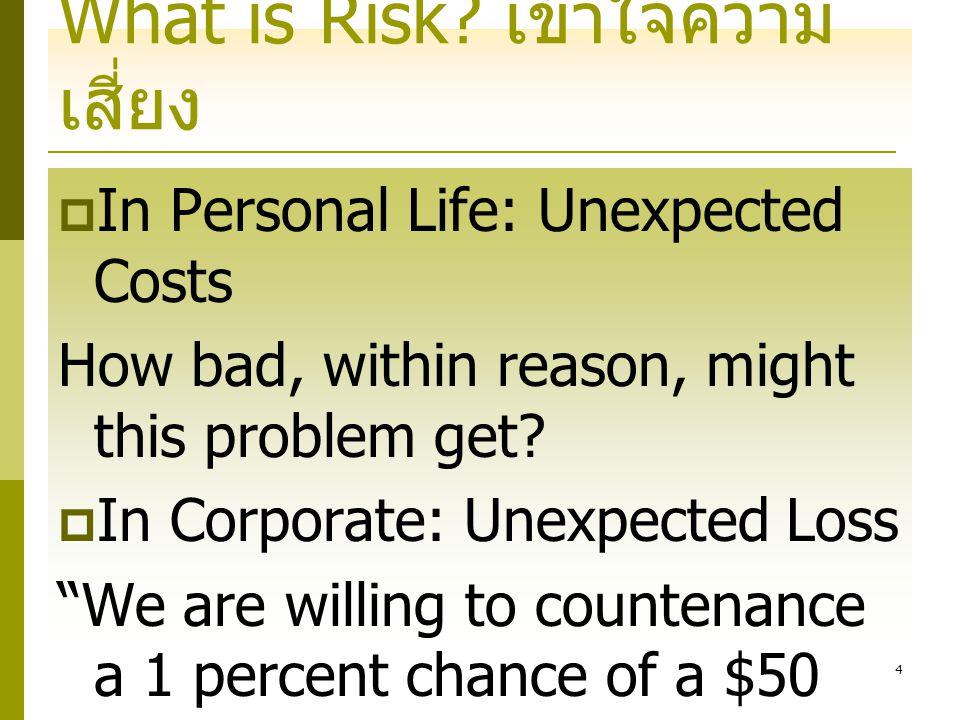24 ความเสี่ยง ความเสี่ยงจากธุรกิจ ความเสี่ยงจากภาวะตลาด ความเสี่ยงจากอัตราดอกเบี้ย ความเสี่ยงจากราคาหุ้น ความเสี่ยงจากอัตราแลกเปลี่ยน ความเสี่ยงจากราคาสินค้า