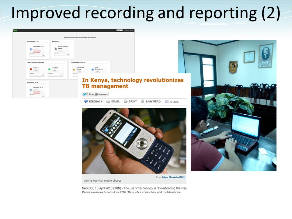 Improved recording and reporting (2)