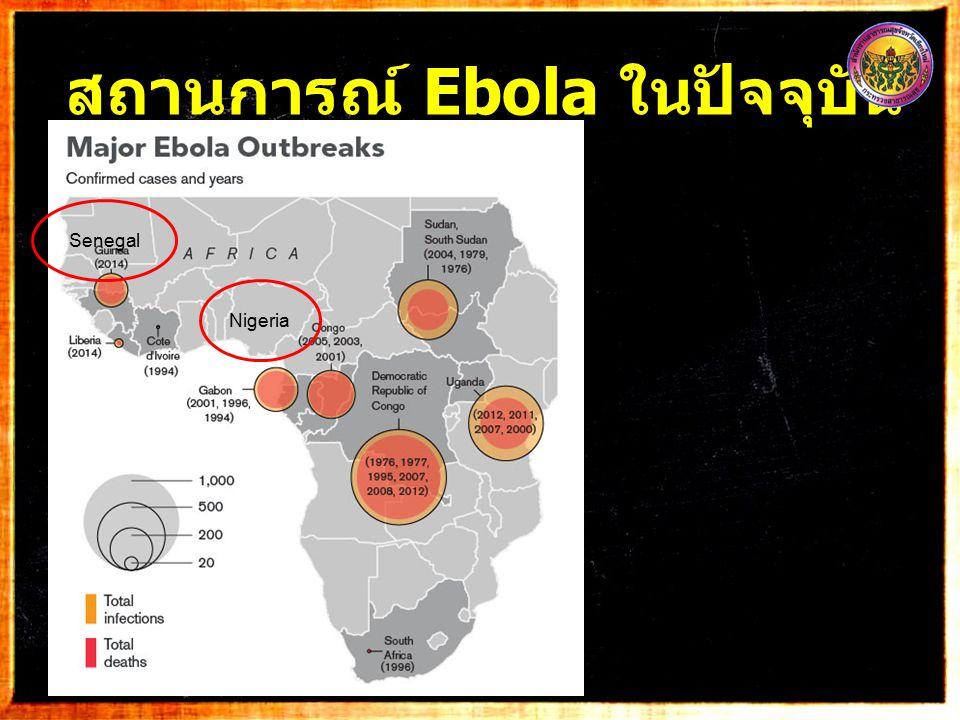 สถานการณ์ Ebola ในปัจจุบัน 7 Nigeria Senegal
