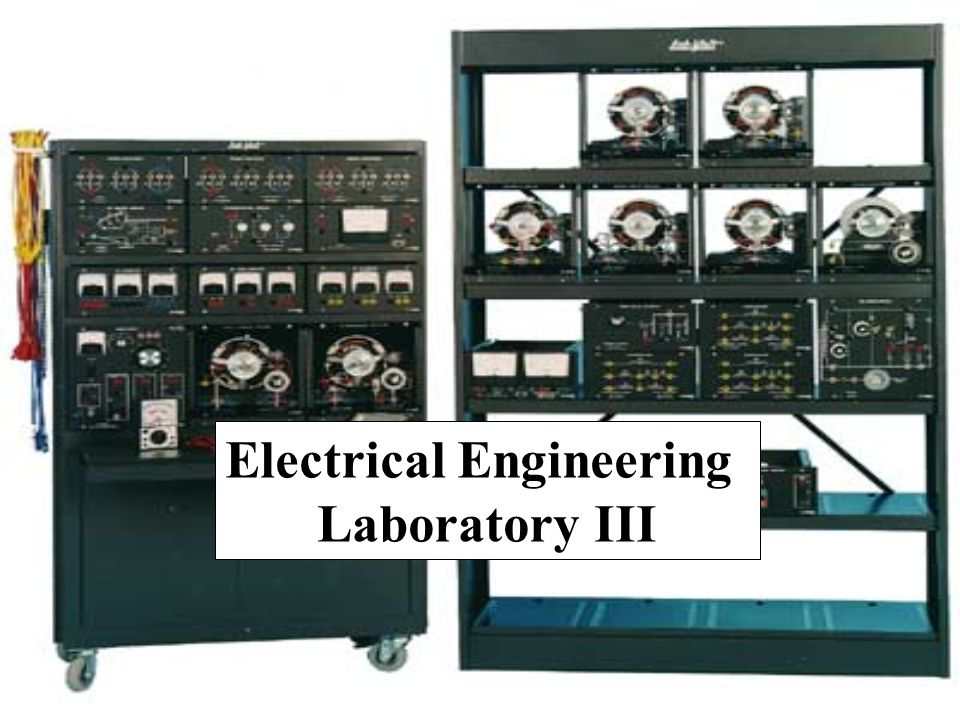 การทดลอง 1.One Phase Transformer 2.Three Phase Transformer 3.DC Machine (DC Motor) 4.Induction Machine (Induction Motor) 5.Synchronous Motor 6.Synchronous Generator 7.Alternator Synchronizing (Generator Synchronizing)