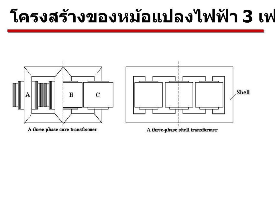 โครงสร้างของหม้อแปลงไฟฟ้า 3 เฟส