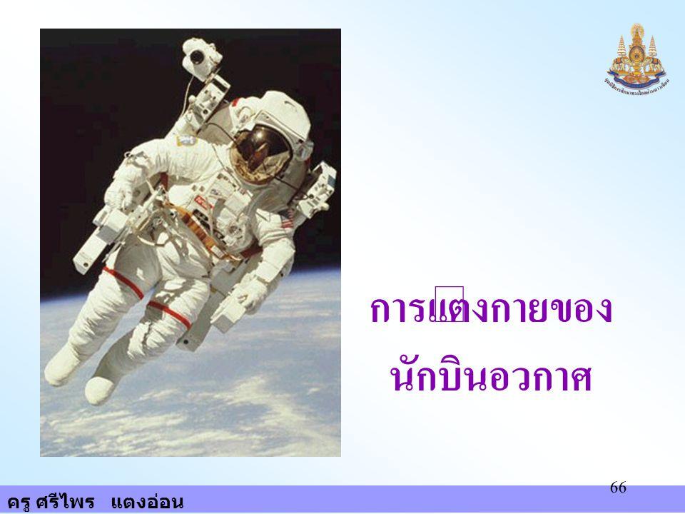 ครู ศรีไพร แตงอ่อน 66 การแต่งกายของ นักบินอวกาศ