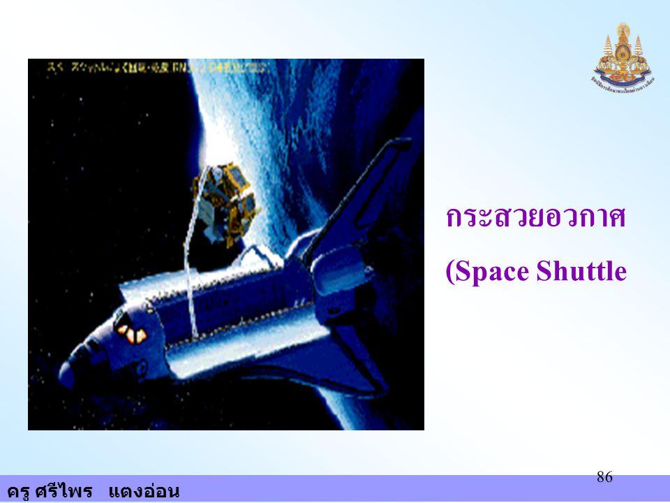 ครู ศรีไพร แตงอ่อน 86 กระสวยอวกาศ (Space Shuttle