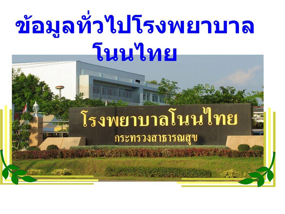 ข้อมูลทั่วไปโรงพยาบาล โนนไทย