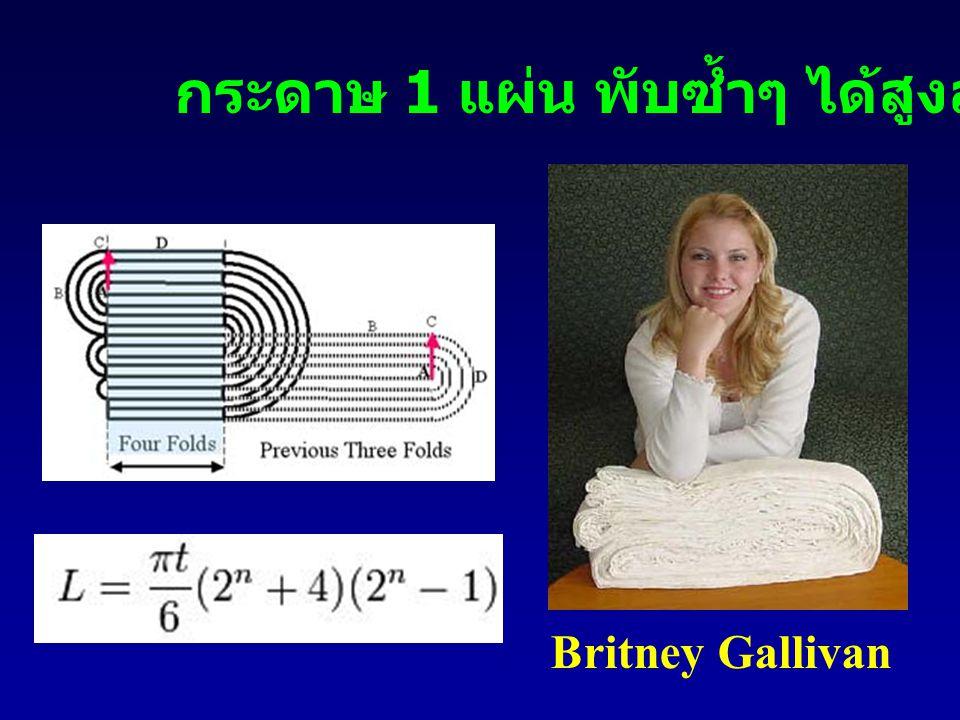 Britney Gallivan กระดาษ 1 แผ่น พับซ้ำๆ ได้สูงสุดกี่ทบ ?