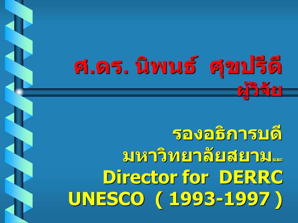 การวิจัยเพื่อ พัฒนาภาวะผู้นำ และอาจารย์ใน อุดมศึกษาไทย