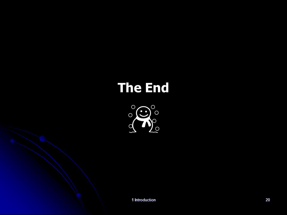 The End ☃ 1 Introduction20