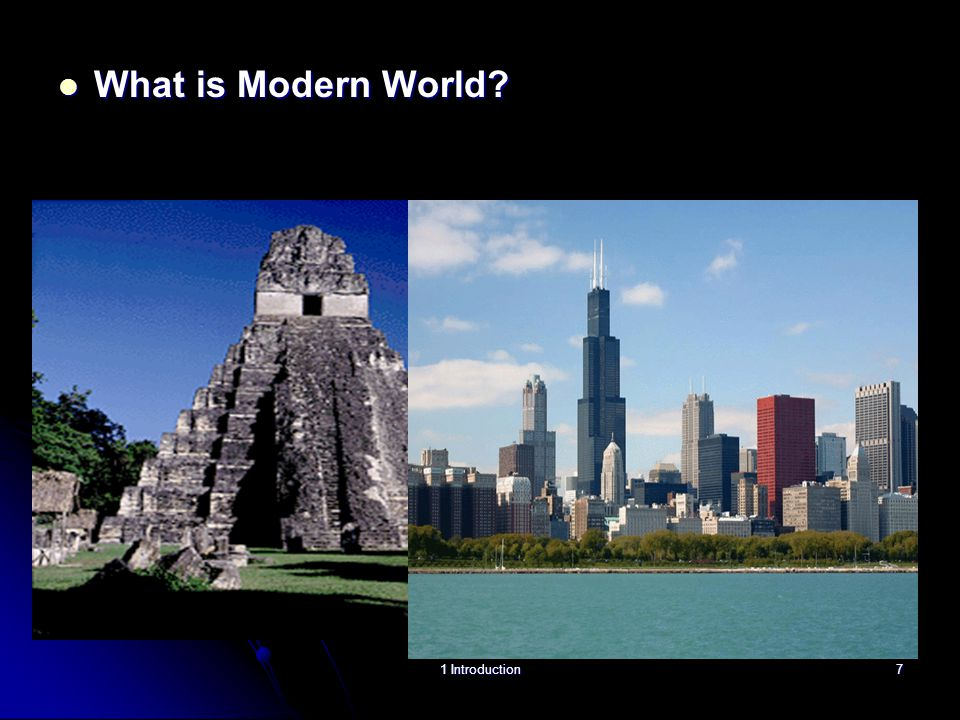 What is Modern World? What is Modern World? 1 Introduction7