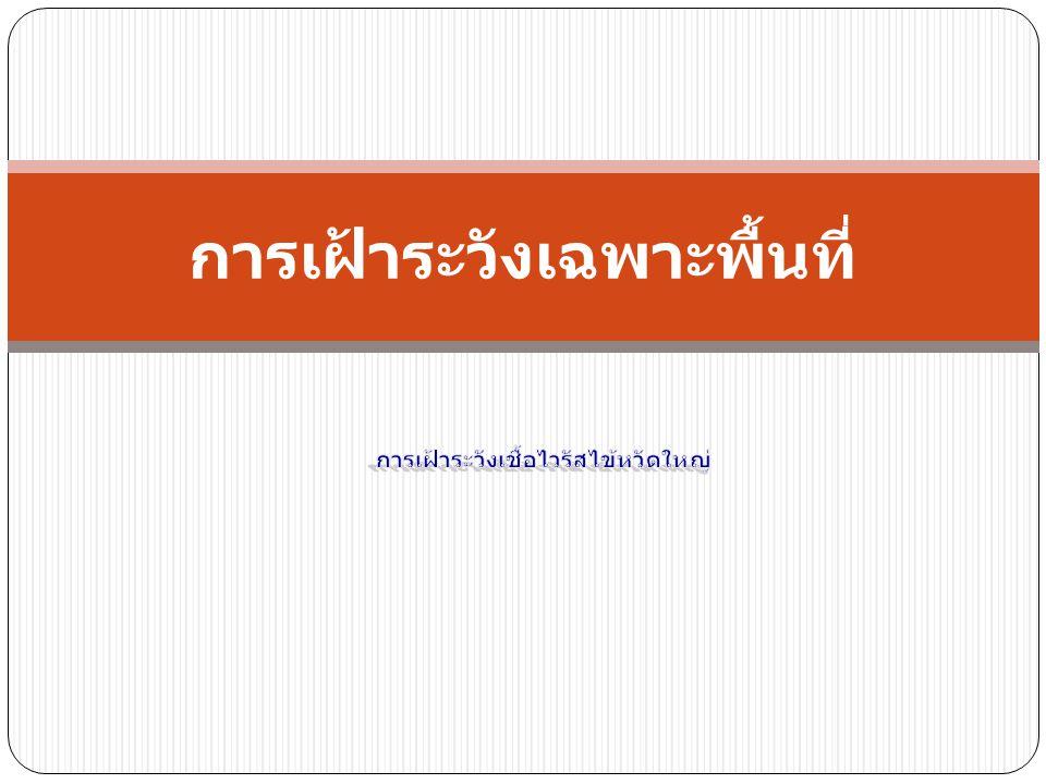 ความเป็นมา  จากการเฝ้าระวังฯ ไข้หวัดใหญ่สายพันธุ์ใหม่ 2009 ของไทย ส่วน ใหญ่อาการไม่รุนแรง รายที่เสียชีวิตมักเป็นกลุ่มเสี่ยง  ปรับระบบ ให้เก็บตัวอย่างส่งตรวจเฉพาะ ผู้ป่วยปอดอักเสบรุนแรงถึง เสียชีวิต และสงสัยดื้อยาต้านไวรัส  เพิ่มระบบการเฝ้าระวังไวรัสไข้หวัดใหญ่สายพันธุ์ใหม่ 2009 เฉพาะ พื้นที่ ใน รพ.