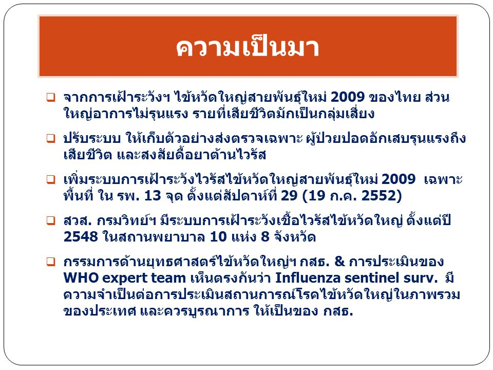 Number of H1N1 PDM reports by onset and diagnosis Number Onset Schools outbreak In BKK and periphery Changing in testing policy