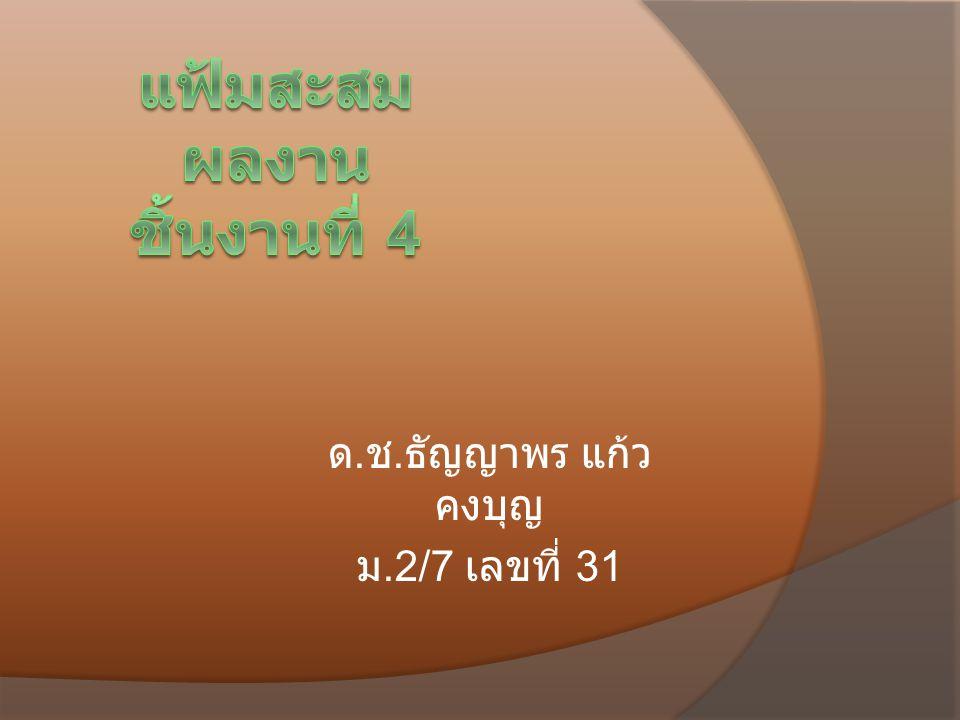 ด. ช. ธัญญาพร แก้ว คงบุญ ม.2/7 เลขที่ 31