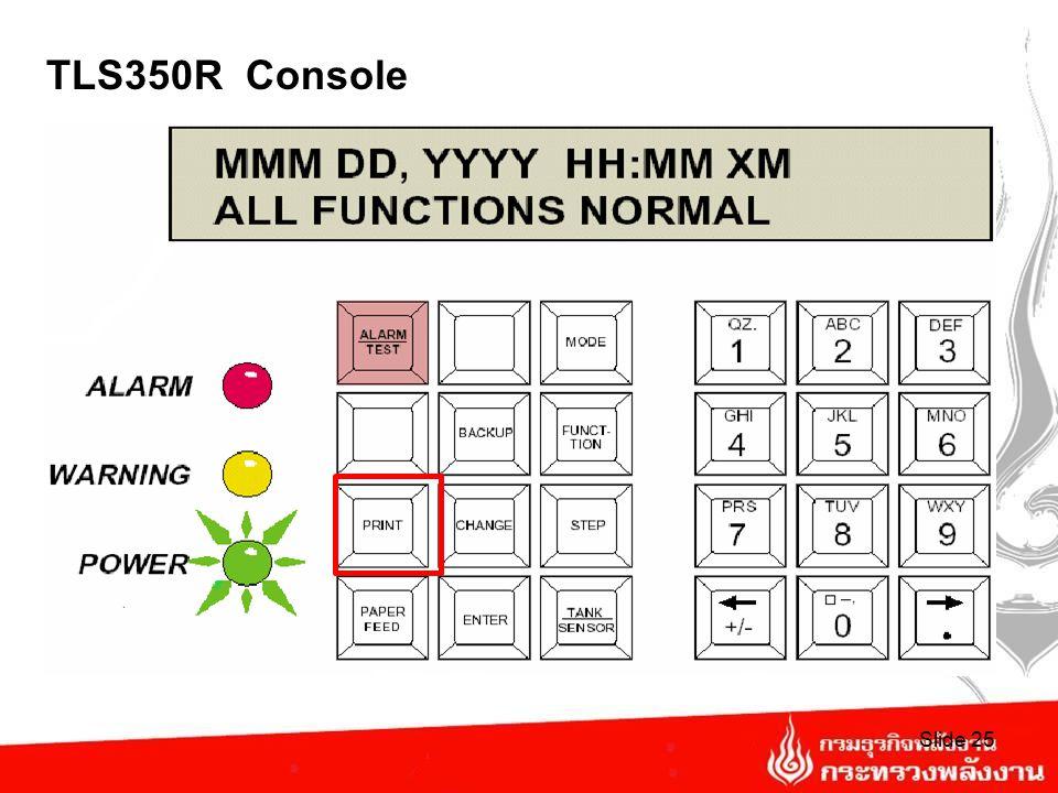 TLS 350R Console Slide 24