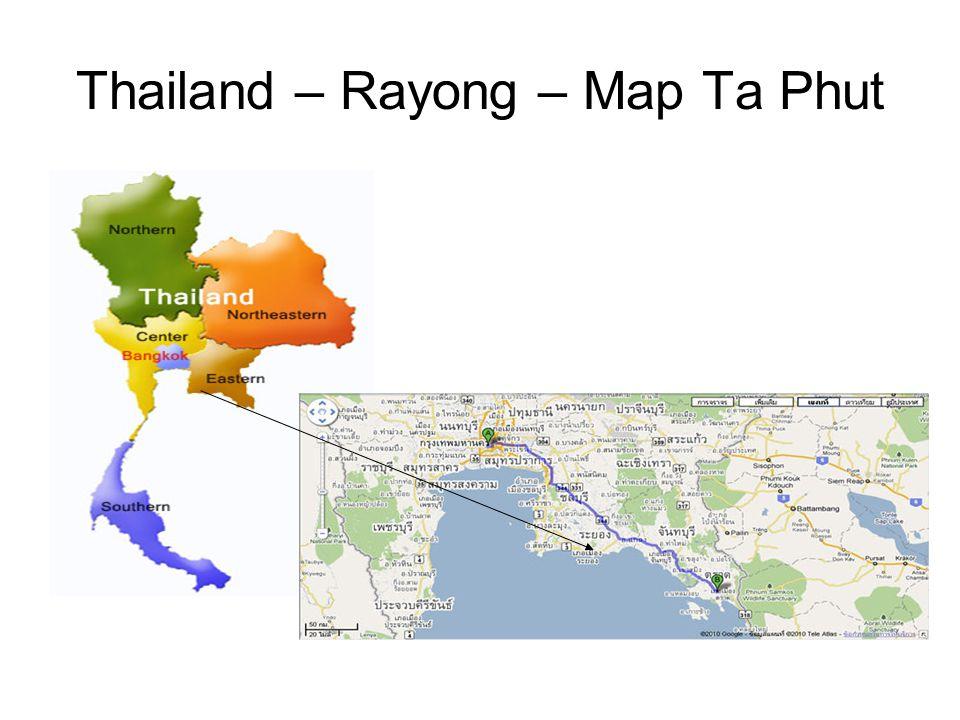 Thailand – Rayong – Map Ta Phut