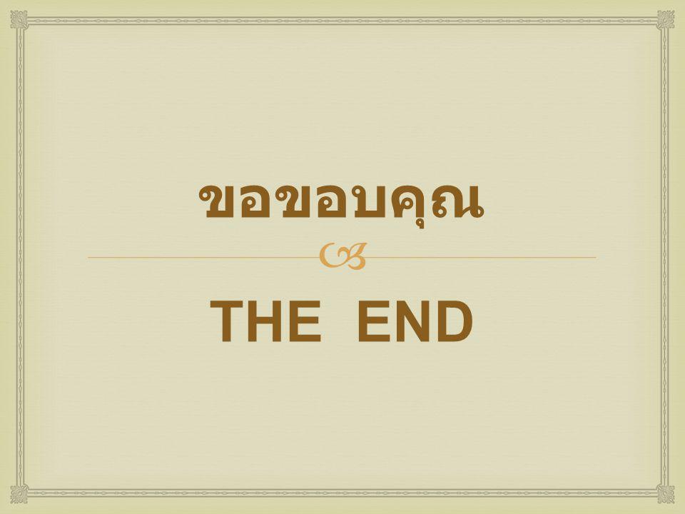 ขอขอบคุณ THE END
