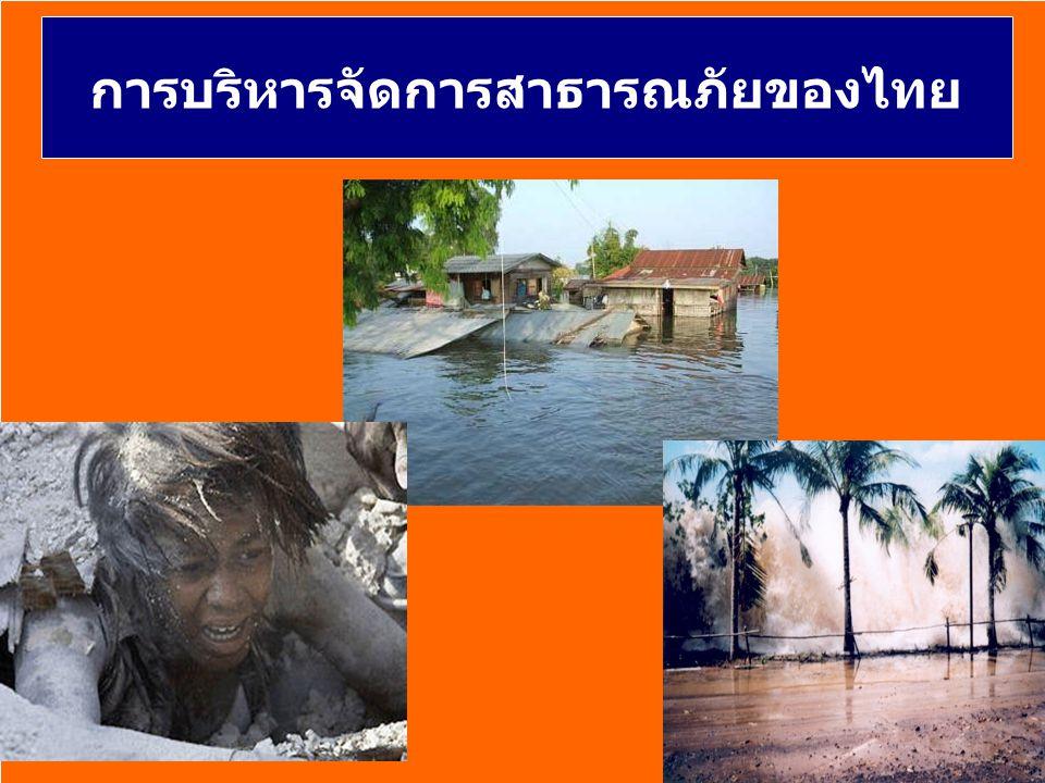 การบริหารจัดการสาธารณภัยของไทย