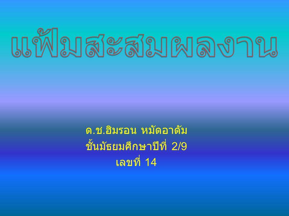  ชื่อ ด.ช. ฮิมรอน หมัดอาดัม  วัน เดือน ปี เกิด 15/4/44  ที่อยู่ 214 หมู่ที่ 2 ต.